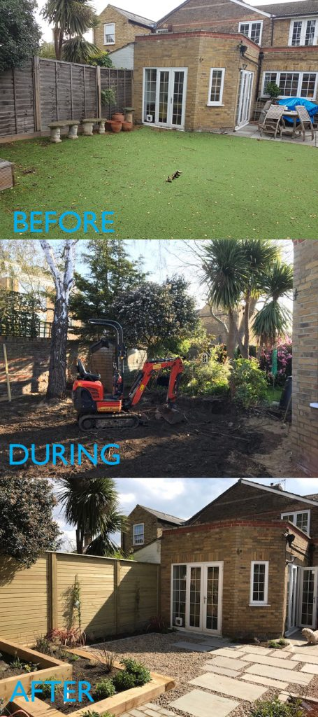 garden landscaping project.