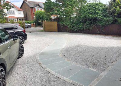garden driveway refurbishment.